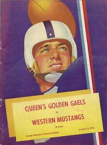 Queens Golden Gaels - Western Mustangs 1956 Canada Junior Football Off. Program