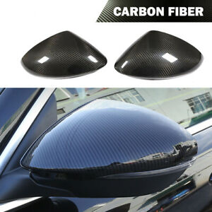 Fit For Alfa Romeo Stelvio 2017-19 Side Rearview Mirror Cover Caps Carbon Fiber