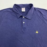 Brooks Brothers 346 Polo Shirt Men's XL Short Sleeve Blue Casual 100% Cotton
