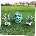 Halloween Decorations - Halloween Realistic Zombie Face and Arms Lawn Stakes