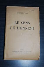 Le sens de l'ennemi - Louis Bertrand