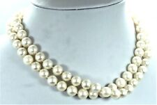 """Vintage Cartier 28"""" Pearl Necklace With 18k White Gold Bow Clasp"""