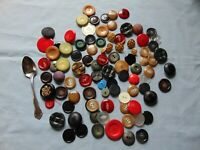 Lot Of Large Vintage Sewing Buttons Large Buttons Many Colors Craft Multi color