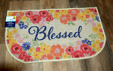"""Blessed Berber Slice Rug with Non Skid Latex Back 17 x 30"""""""