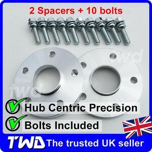 15MM HUBCENTRIC ALLOY WHEEL SPACERS + BOLTS - PORSCHE 911 (996 997 991) -2B10P45