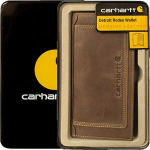 Carhartt Wallet Men's Detroit Rodeo Leather Wallets Brown