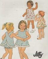 Toddler Jiffy Dress & Bloomers Sewing Pattern Size 4 Simplicity 9513