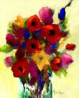 """ACEO ATC Signed Art Print """"Glorious"""" Artist Trading Card Floral Flowers"""