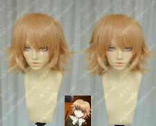 Danganronpa Fujisaki Chihiro Orangish Orange Styled Cosplay Party Wigs