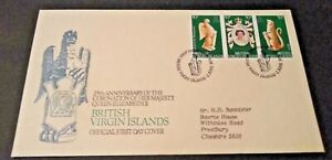 British Virgin Islands 1978 25th Anniversary of the Coronation First Day Cover