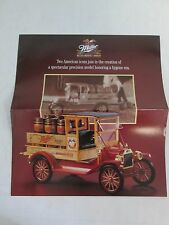 Franklin Mint Brochure Ford Model T Miller Brewery Truck