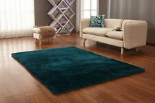 New Modern Thick Soft Plain Silky Shag Pile Rug Luxurious High Quality Rugs Uk