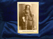 FEMALE SCOUT COWGIRL 1870s Cabinet Card Photo Vintage Woman CDV Feminist