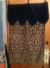 BEAUTIFUL TAPESTRY WALL HANGING, ROYAL BLUE/GOLD VELOUR/BROCADE 26x40in.NEW RARE