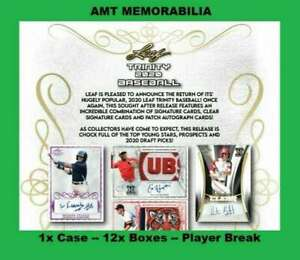 Aaron Sabato Minnesota Twins 2020 Leaf Trinity 1X CASE 12X BOX BREAK #8