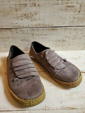 Womens Gray Suede Like Slip On Sneakers Size 39 Or 7.5