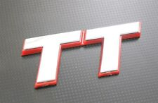 High Quality TT Plastic Chrome Silver & RED Outline RS Badge Emblem Fit For AUDI