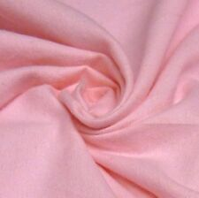 Plain Pale Pink 100% Brushed Cotton Winceyette Flannelette *Per Metre