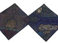 Living Room Rajasthan Pillowcases 2 Black Interior Design Saree Cushion Covers