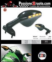 Coppia Specchietti frecce led Far 7037 7038 moto Honda Cbr 125 600 900 1000 F RR