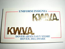 KOREAN WAR VETERANS ASSOCIATION COLLAR BADGES - 1 PAIR