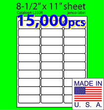 L330R, 15,000 Address Labels,Laser Inkjet Labels, 2-5/8x1