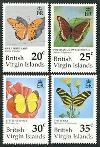 B131 BRITISH VIRGIN ISLANDS 1991 Butterflies Mint NH