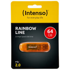 kQ Intenso Rainbow Line Stick 64 GB USB 2.0 Speicherstick 64GB orange