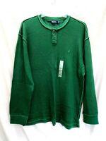 Nautica Men's Long Sleeve Cotton Shirt In Mack Green K13335 Size XL - NWT