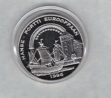 More details for finland 1996 hanse portti silver proof 20 ecu crown in mint condition + capsule