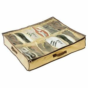 12 Pairs Shoe Tidy Under Bed Storage Storer Organiser Closet Bag For Shoes UK