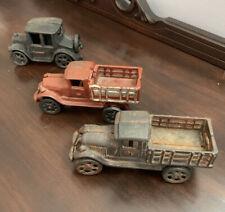 2 Vintage Jm138- Cast Iron Stake Ford Body Delivery Trucks 6 + Jm131 Model T Car