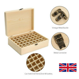 48 Slot Essential Oil Storage Box Wooden Case Aromatherapy Oils Organizer Holder