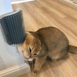 Cats Brush Corner Cat Massage Self Groomer Comb Brush Cat Rubs the Face with a T
