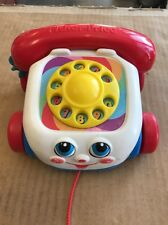 Fisher-Price Chatter Telephone Baby Dial Phone 2000 Mattel, Pull Toy