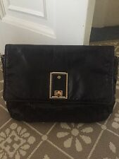 Marc Jacobs Oversized Black Leather Clutch Bag
