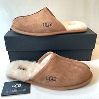 Men's UGG Slippers UK Size 10 Chestnut suede Slip On Scuffs