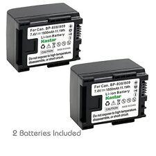 2x Kastar Battery for Canon BP-809 LEGRIA HF S100 HF S11 HF S20 HF S200 HF S21