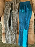 Lot 2 Under Armour & Rawling Athletic Boys Size 7, 10-12 Joggers Track Pants