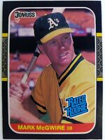1987 87 Donruss Rated Rookie Mark McGwire RC #46, Oakland A's, Cardinals