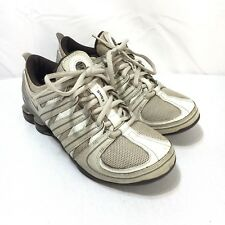 Nike Shox Women's 6 Lace Up White Brown Gray Running Shoes