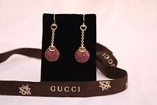 MAGNIFICENT BRAND NEW PAIR OF GUCCI 18K GOLD RUBY EARRINGS