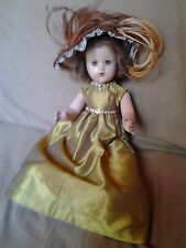 "Antique 17"" Jointed Composition Girl Doll-Glass Sleep Eyes-Orig.Hair/Clothing"