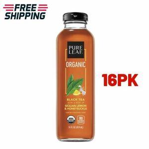 Pure Leaf, Organic Iced Tea, Sicilian Lemon & Honeysuckle 14 oz, 16PK