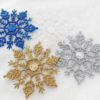12Pcs 10cm Gold Powder Snowflake For Christmas Tree Xmas And New Year Home Decor