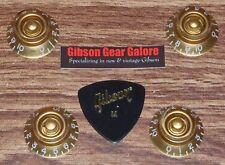 Gibson Les Paul Knobs Top Hat Set Gold Guitar Parts Firebird R9 Custom T ES R8 X