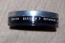 """Tiffen Series # 7 Retaining Screw On Ring, 2"""" Diameter, Amber Lens, USA"""