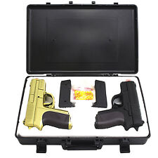 CYMA TWIN SPRING DUAL AIRSOFT PISTOL COMBO PACK SET Hand Gun w/ Case 6mm BB BBs
