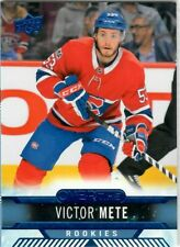 2017-18 Upper Deck Overtime Blue Victor Mete Rookies Montreal Canadiens