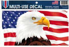 American Eagle Us Flag Car Decal Usa Patriotic Auto Window Cling